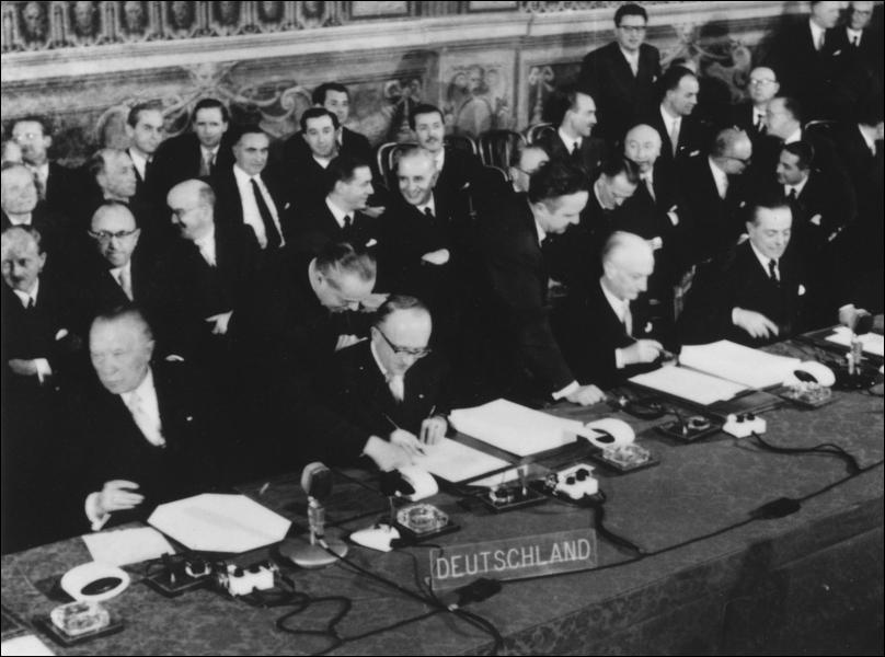 Quand est signé le traité de Rome ?