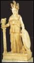Qui est cette déesse qui porte un casque et une tunique ?