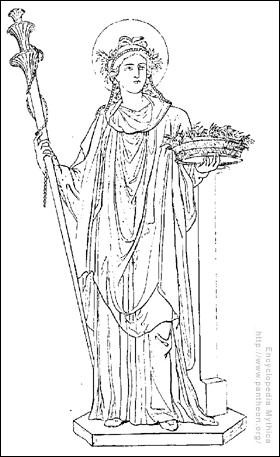 Qui est cette déesse avec sa corbeille de blé ?