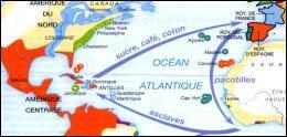 Comment s'appelait le commerce esclavagiste mis en place entre l'Europe, l'Afrique et les colonies d'Amérique ?