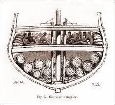 Les esclaves étaient transportés, entassés dans les cales, dans des conditions inhumaines. Quel était le taux de mortalité moyen dans les navires négriers ?