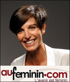Jeune maman, elle crée avec son mari le site AuFeminin.com, revendu en 2007 :
