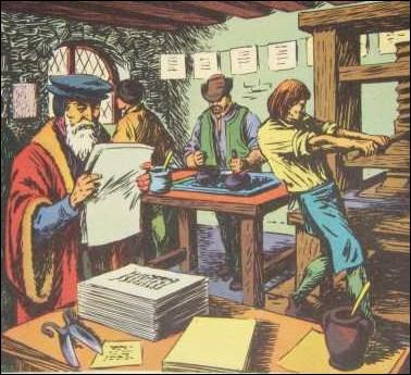 _____________, Gutenberg INVENTA l'imprimerie.