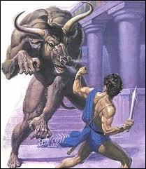 Quel héros légendaire faisant partie des sacrifiés réussit à terrasser le monstre ?