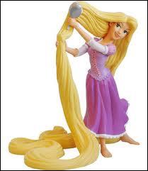 De quelle couleur sont les cheveux de Raiponce aprés les avoir coupés ?