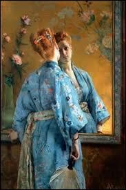 Qui a peint 'Femme en kimono bleu' ?