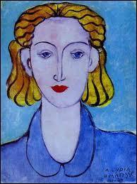 Qui a représenté sa secrétaire dans la toile 'Jeune femme en blouse bleue' ?