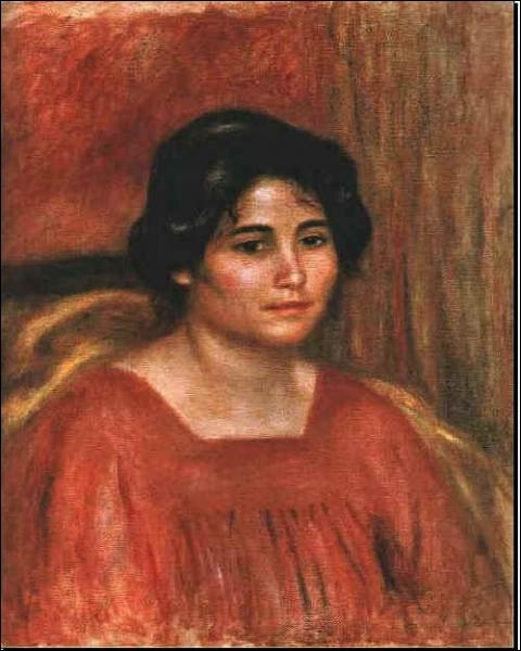 Qui a peint 'Gabrielle en blouse rouge' ?