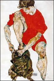 Qui a peint 'Une femme en veste rouge' ?