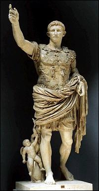 Quelles sont les dates du règne d'Auguste, fils adoptif de César ?