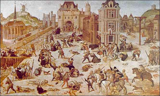 À quelle date eu lieu le massacre de la Saint-Barthélémy ?