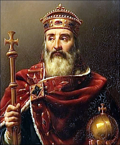 Quand Charlemagne fut-il couronné empereur par le pape Léon III ?