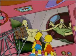 Bart et Lisa admirent cette fresque parodique que l'on pourrait intituler   La création des Simpson  . Qui en est le véritable auteur ?