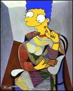Ce portrait de Marge s'inspire de quel artiste ?
