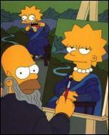 Quel est le nom du véritable artiste en train de peindre le portrait de (Mona) Lisa ?