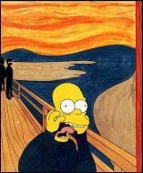 Qui est le véritable auteur de ce tableau parodique que l'on pourrait intituler   le cri d'Homer Simpson   ?