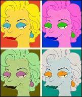 Qui est le vrai auteur de ce tableau parodique de Marilyn Simpson ?