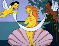 Qui est le vrai auteur de ce tableau parodique que l'on pourrait intituler   La naissance de Vénus Simpson   ?