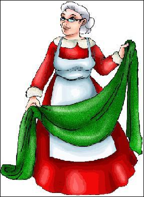 Je suis l'épouse du père Noël. Qui suis-je ?