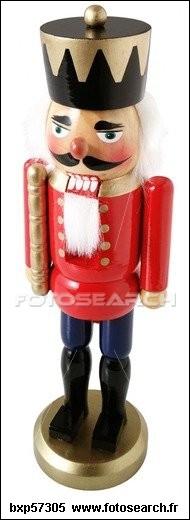 Je suis un jouet déguisé en soldat et qui casse des noix. Que suis-je ?