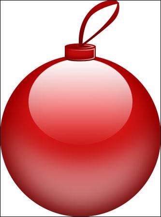 Je suis rond, je peux être de différentes couleurs et je suis accroché sur le sapin de Noël. Que suis-je ?
