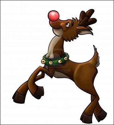 Parmi les rennes qui tirent le traîneau du père Noël, je suis celui qui guide le traîneau pendant la nuit en éclairant avec mon nez rouge. Qui suis-je ?
