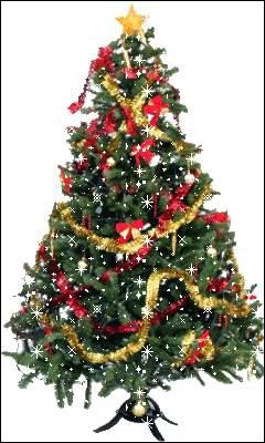 Je suis un arbre que l'on utilise à Noël pour le décorer avec des boules, des lumières et des guirlandes de Noël. Qui suis-je ?
