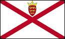 Tout comme la question précédente, ce drapeau appartien à une île Anglo-Normande. De quelle île s'agit-il ?