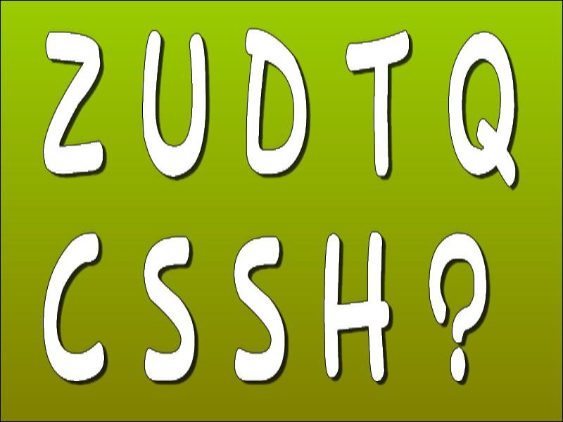 Quelle lettre faut-il placer à la place du point d'interrogation pour obtenir une suite logique ? (indice = pensez aux nombres compris entre 0 et 9)
