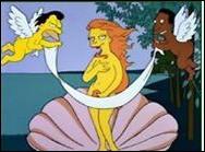 Quel peintre se voit ici plagié par les personnages des Simpson ?