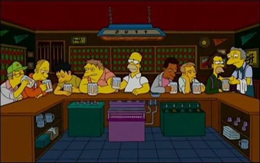 Quelle est cette œuvre ayant pour invités Homer et ses amis ?
