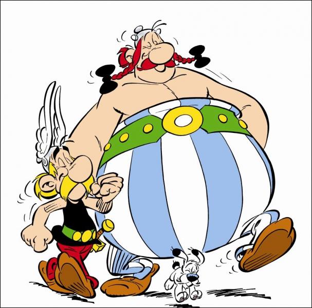 Qui sont ces personnages ? Ils sont Gaulois et le plus gros des deux aimerait boire de la potion magique :
