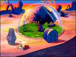 Quel personnage habite sous un dôme ?