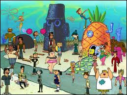 Quel est le nom de la ville sous-marine où se déroulent les aventures de Bob l'Eponge ?