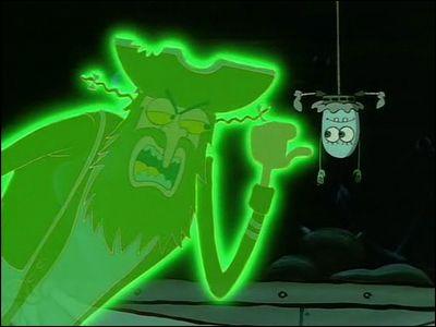 Comment s'appelle le fantôme effrayant qui hante Bikini Bottom ?