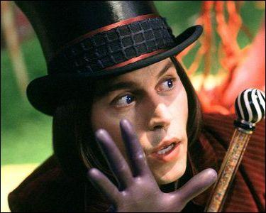 Film sorti en 2005, réalisé par Tim Burton. Depp joue le rôle de Willie Wonka, un fils de dentiste.