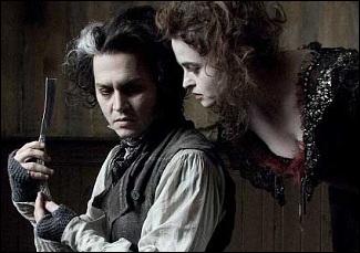 Film sorti en 2007, réalisé par Tim Burton. Johnny Depp interprète le rôle d'un personnage mystérieux et fort sanglant.