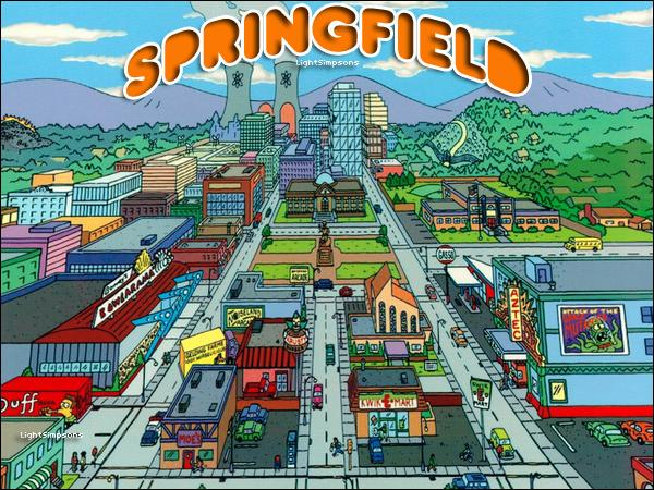 Quel est le nom de la ville des Simpson ?