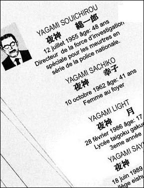 Combien y a-t-il de membres dans la famille Yagami ?