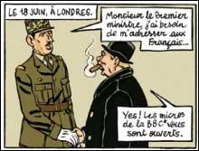 Vers la fin de sa vie, De Gaulle a déclaré sur le ton de la boutade que son seul rival international était un personnage de BD. Lequel ?