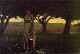 Quel peintre américain est l'auteur de la toile 'Fille dans un verger' ?