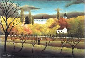Quel peintre naïf est l'auteur de la toile 'Le verger' ?