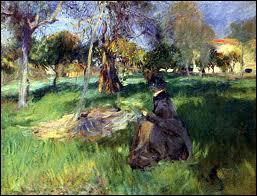 Quel peintre américain est l'auteur de la toile 'Dans le verger' ?