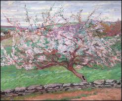 Qui a peint 'Pommier en fleurs' ?