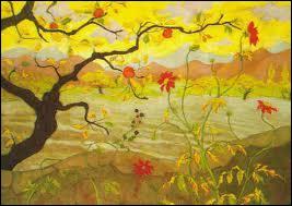 Quel peintre du groupe des nabis est l'auteur de la toile 'Pommier aux fruits rouges' ?