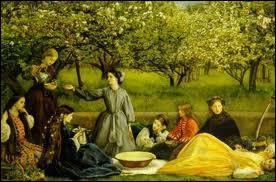 Quel peintre anglais est l'auteur de la toile 'Fleurs de pommier au printemps' ?