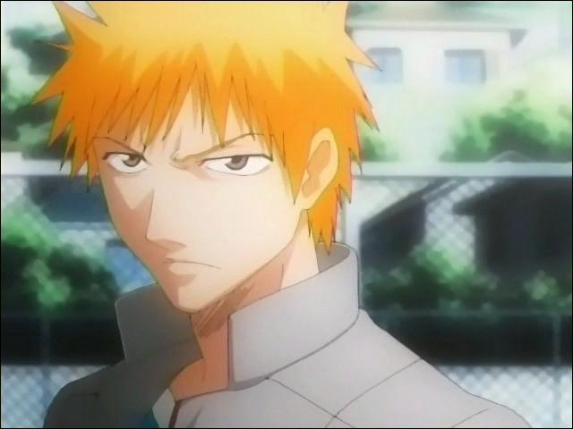 Au lycée d'Ichigo, lors du second partiel du premier semestre, quelle position obtient-il ?