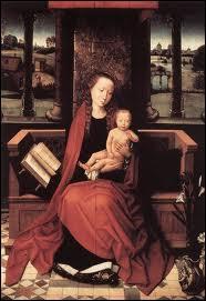 Qui a peint 'Vierge à l'Enfant trônant' ?