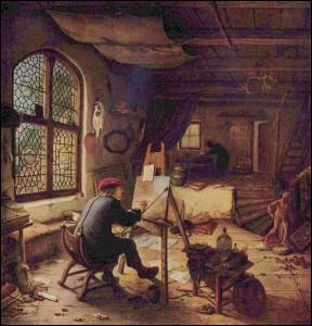 Qui s'est représenté dans son atelier ?