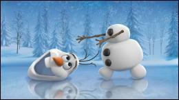 Quel est le nom de ce petit bonhomme de neige rigolo qui  perd  parfois la tête ?